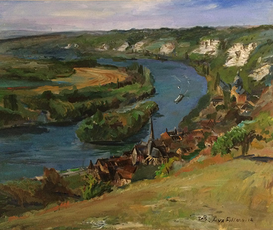 Anna Filimonova, Les Andelys, huile sur toile