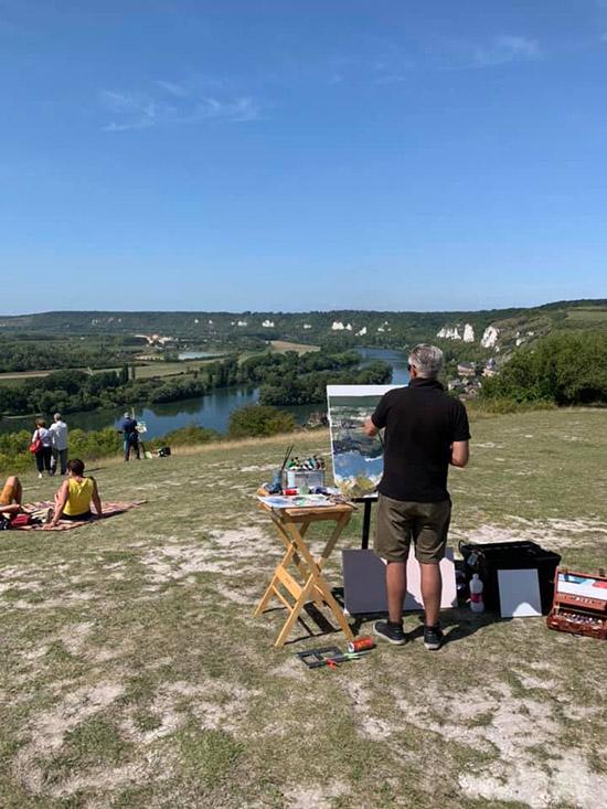 3e Festival International de Peinture en plein air qui s'est déroulé du 21 au 25 août 2019 aux Andelys.