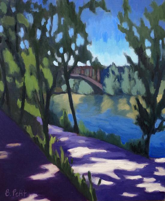 Barbara Petit - Vue sur le rio Pisuerga